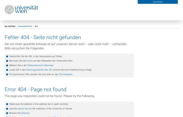 Vorschau von www.univie.ac.at, Philosophiegeschichte in Österreich nach 1750
