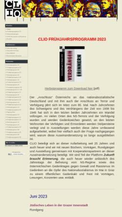 Vorschau der mobilen Webseite www.clio-graz.net, Verein für Geschichts- und Bildungsarbeit Clio