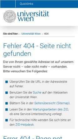 Vorschau der mobilen Webseite www.univie.ac.at, Wiener Datenbank zur Europaeischen Familiengeschichte