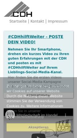 Vorschau der mobilen Webseite www.cdhkoeln.de, Handelsvertreterverband Köln-Bonn-Aachen e.V.