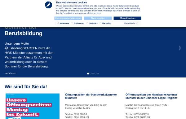 Vorschau von www.hwk-muenster.de, Handwerkskammer Münster