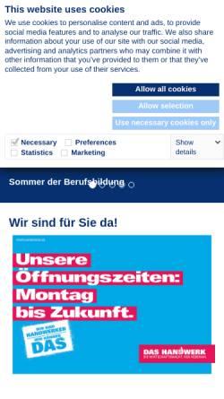 Vorschau der mobilen Webseite www.hwk-muenster.de, Handwerkskammer Münster