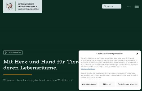 Vorschau von www.ljv-nrw.de, Landesjagdverband Nordrhein-Westfalen