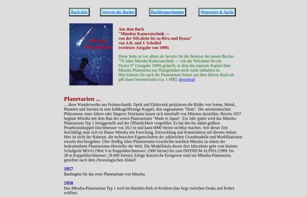 Vorschau von www.scheibel.de, Minolta Planetarien