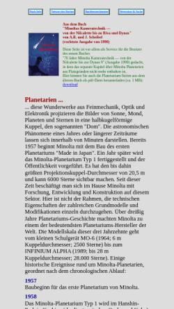 Vorschau der mobilen Webseite www.scheibel.de, Minolta Planetarien