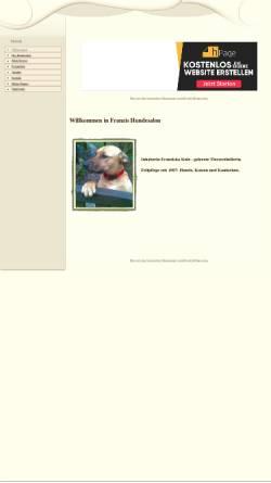 Vorschau der mobilen Webseite www.franzis-hundesalon.npage.de, Franzis Hundesalon