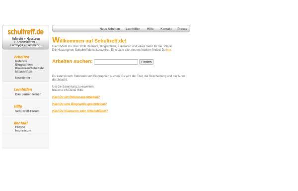 Vorschau von www.schultreff.de, Schultreff.de