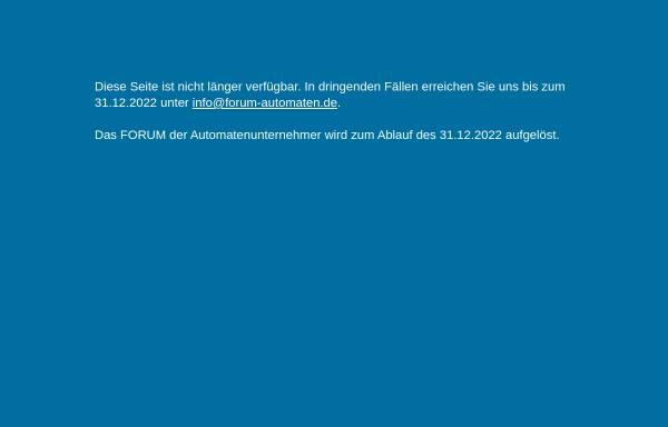 Vorschau von www.forum-automaten.de, Forum für Automatenunternehmer in Europa e.V.