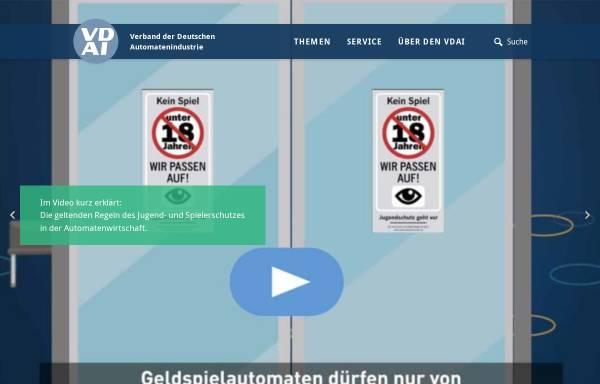 Vorschau von www.vdai.de, VDAI, Verband der Deutschen Automatenindustrie e.V.