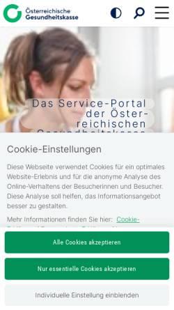 Vorschau der mobilen Webseite www.oegk.at, Steiermärkische Gebietskrankenkasse (STGKK)