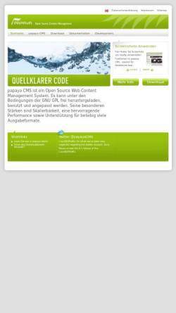 Vorschau der mobilen Webseite www.papaya-cms.com, Papaya Software GmbH