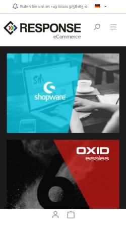 Vorschau der mobilen Webseite www.response-gmbh.de, Response GmbH