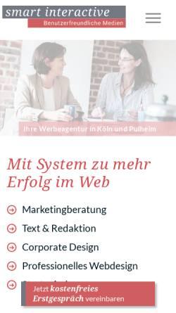 Vorschau der mobilen Webseite www.smart-interactive.de, Smart interactive