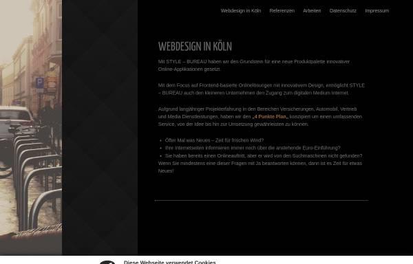 Vorschau von www.stylebureau.de, STYLE-BUREAU, Inhaber Jens Mönning