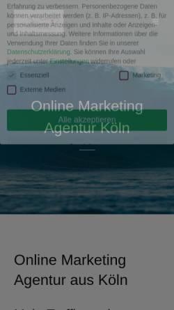 Vorschau der mobilen Webseite www.surfclicks.de, Surfclicks, Inhaberin Alexandra Sackmann
