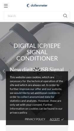 Vorschau der mobilen Webseite www.ibdoll.ch, Dollenmeier GmbH