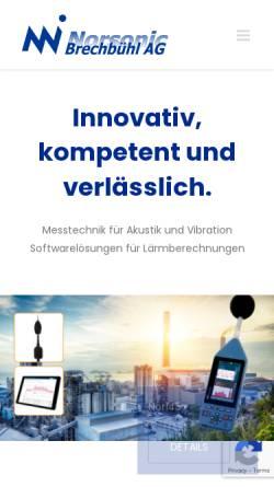 Vorschau der mobilen Webseite www.norsonic.ch, Norsonic Brechbühl AG