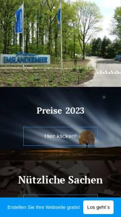 Vorschau der mobilen Webseite ferienhaus-emslandermeer.webnode.com, Ferienhaus Emslandermeer