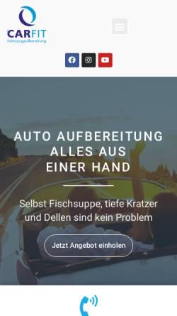 Vorschau der mobilen Webseite www.carfit-hamburg.de, Car Fit, Inh. Peter Bock e.K.