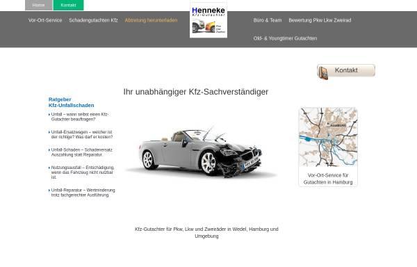 Vorschau von www.kfz-gutachter-hamburg.de, Kfz-Gutachter Henneke