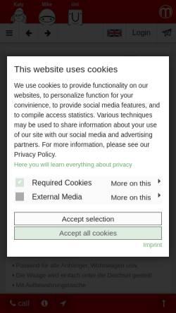 Vorschau der mobilen Webseite www.matthies.de, Matthies