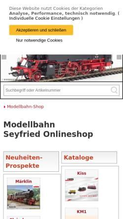 Vorschau der mobilen Webseite www.modellbahn-seyfried.de, ModellBahn-Seyfried
