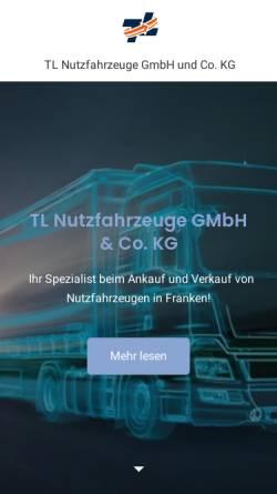 Vorschau der mobilen Webseite www.tl-nfz.de, TL Nutzfahrzeuge GmbH & Co. KG