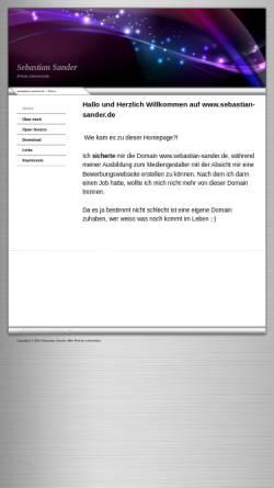 Vorschau der mobilen Webseite www.sebastian-sander.de, Sander, Sebastian