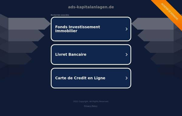 Vorschau von www.ads-kapitalanlagen.de, ADS Anlage- und Immobilien Service GmbH