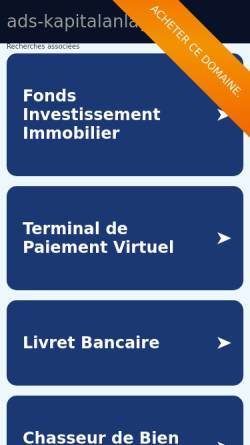 Vorschau der mobilen Webseite www.ads-kapitalanlagen.de, ADS Anlage- und Immobilien Service GmbH
