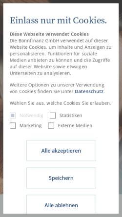 Vorschau der mobilen Webseite www.bonnfinanz.de, Bonnfinanz AG