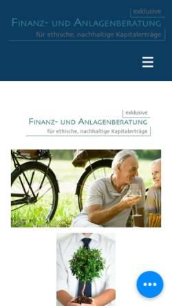 Vorschau der mobilen Webseite www.kneisel-finanz.de, Kneisel Finanz- und Anlagenberatung, Inh. Heidrun Kneisel