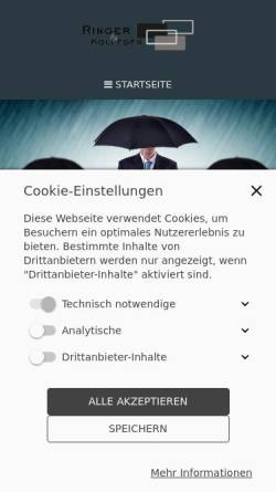Vorschau der mobilen Webseite ringer-kollegen.de, Ringer & Kollegen, Inh. Christian Ringer