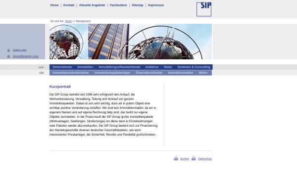Vorschau von www.sipgroup.de, SIP Group, Inh. Gustav Selve Palais