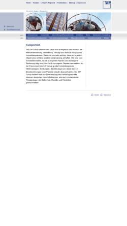Vorschau der mobilen Webseite www.sipgroup.de, SIP Group, Inh. Gustav Selve Palais