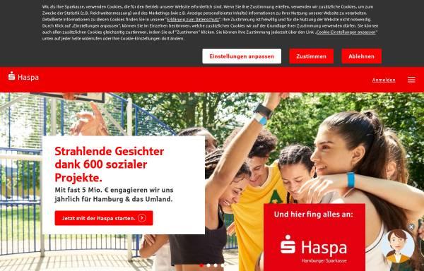 Vorschau von www.haspa.de, Hamburger Sparkasse