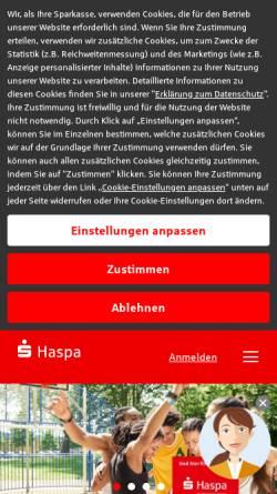Vorschau der mobilen Webseite www.haspa.de, Hamburger Sparkasse