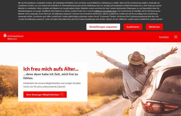 Vorschau von www.ksk-bc.de, Kreissparkasse Biberach