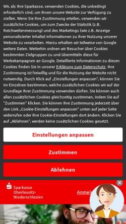 Vorschau der mobilen Webseite www.sparkasse-oberlausitz-niederschlesien.de, Kreissparkasse Oberlausitz-Niederschlesien