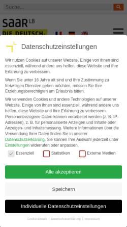 Vorschau der mobilen Webseite www.saarlb.de, Landesbank Saar Girozentrale
