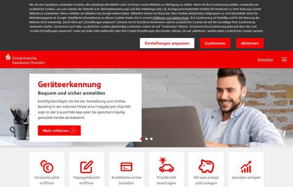 Vorschau von www.ostsaechsische-sparkasse-dresden.de, Ostsächsische Sparkasse Dresden