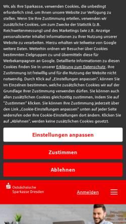 Vorschau der mobilen Webseite www.ostsaechsische-sparkasse-dresden.de, Ostsächsische Sparkasse Dresden
