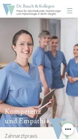 Vorschau der mobilen Webseite www.zaehne.org, Dr. Wylutzki - Zahnarzt