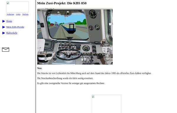 Vorschau von www.fen-net.de, Mein Zusi-Projekt: Die KBS 850