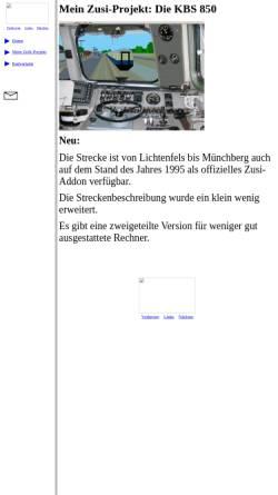 Vorschau der mobilen Webseite www.fen-net.de, Mein Zusi-Projekt: Die KBS 850