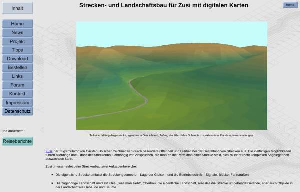 Vorschau von www.rolandziegler.de, Strecken- und Landschaftsbau für Zusi mit digitalen Karten