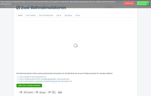 Vorschau von www.zusi.de, Zusi - Der Zugsimulator
