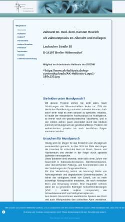 Vorschau der mobilen Webseite www.halitosis-therapie.de, Praxis Dr. med. dent. Karsten Heurich - halitosis-therapie