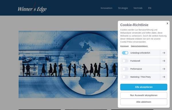 Vorschau von www.winners-edge.de, Winner's Edge Gesellschaft für Führungs-, Strategie- und Verkaufscoaching mbH