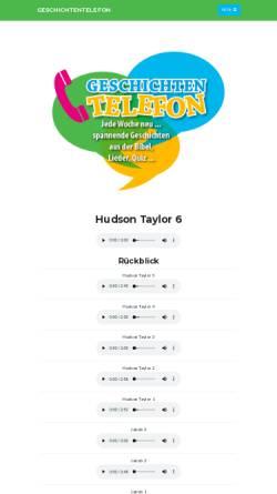 Vorschau der mobilen Webseite www.geschichtentelefon.de, Geschichtentelefon